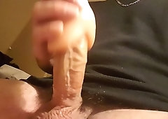 Jerk off with sex toy