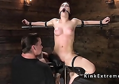 Busty slave on sale vined and caned